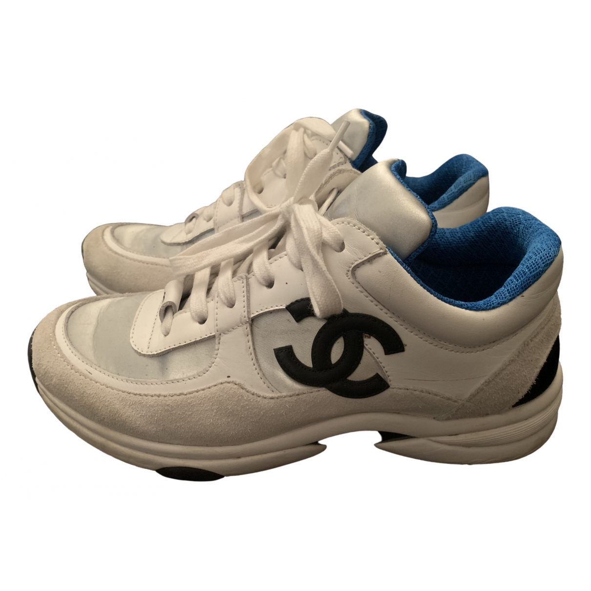 Chanel \N White Suede Trainers for Women 37 EU