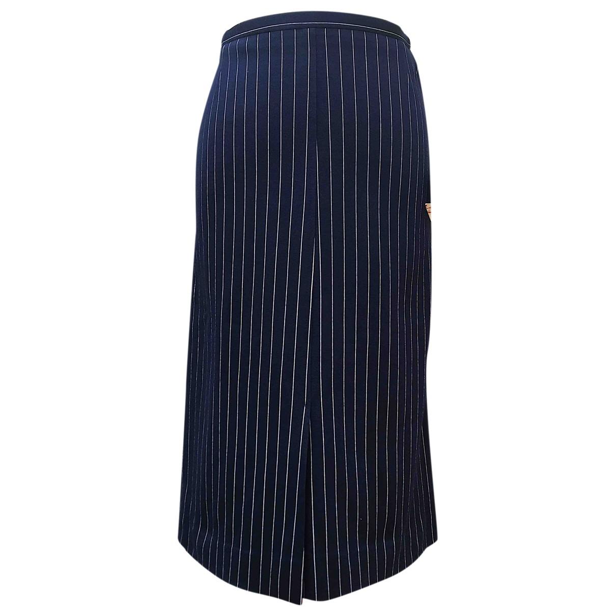 Rodier - Jupe   pour femme en laine - bleu
