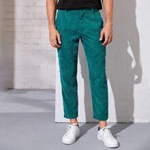 Pantalones de hombres con bolsillo oblicuo