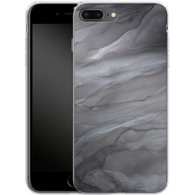 Apple iPhone 8 Plus Silikon Handyhuelle - Black Watercolour Marble von Becky Starsmore