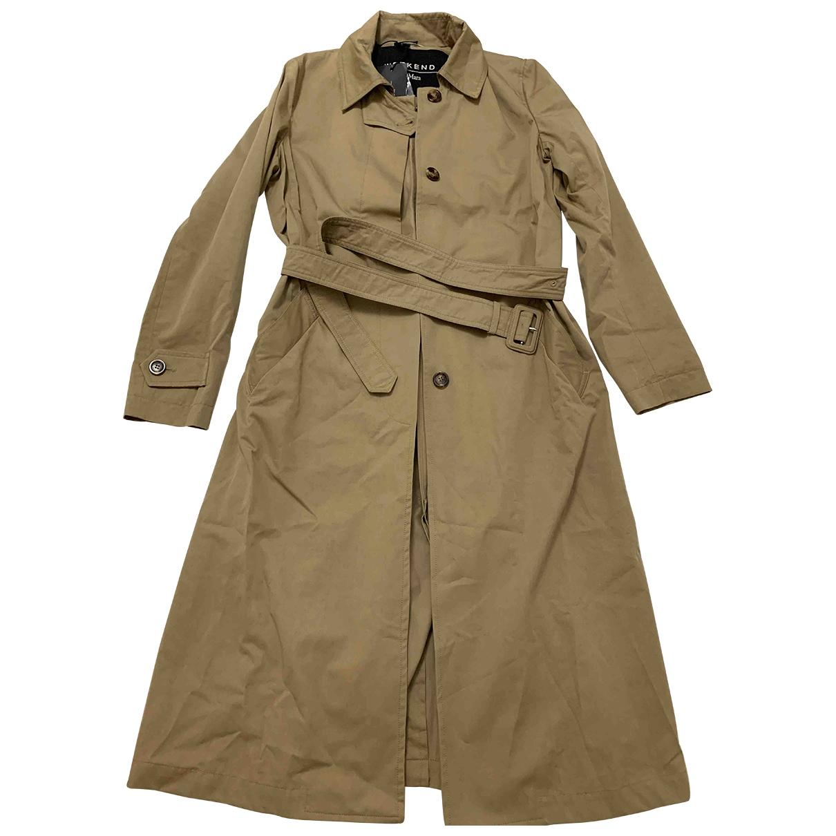 Max Mara Weekend \N Beige Cotton Trench coat for Women 42 IT