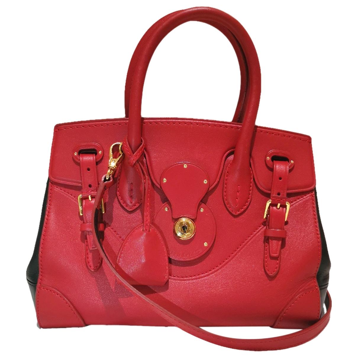 Ralph Lauren \N Handtasche in  Rot Leder