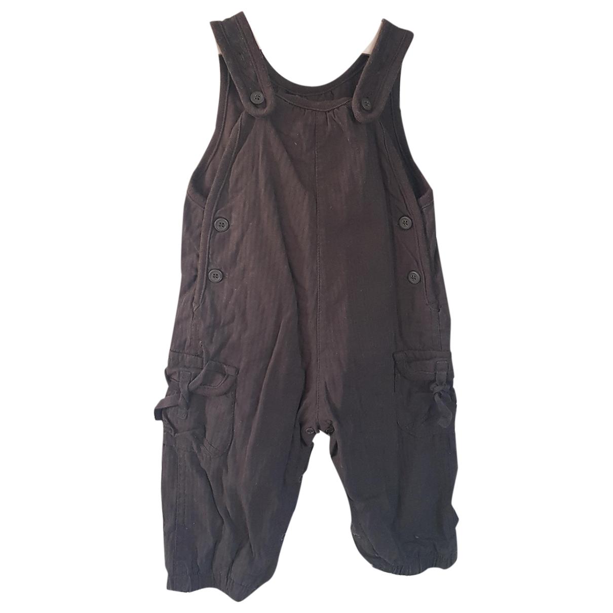 Petit Bateau - Pantalon   pour enfant en coton - marron