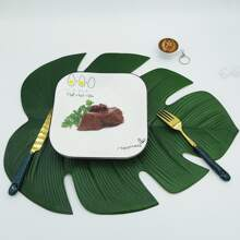 1pc Leaf Shaped Placemat