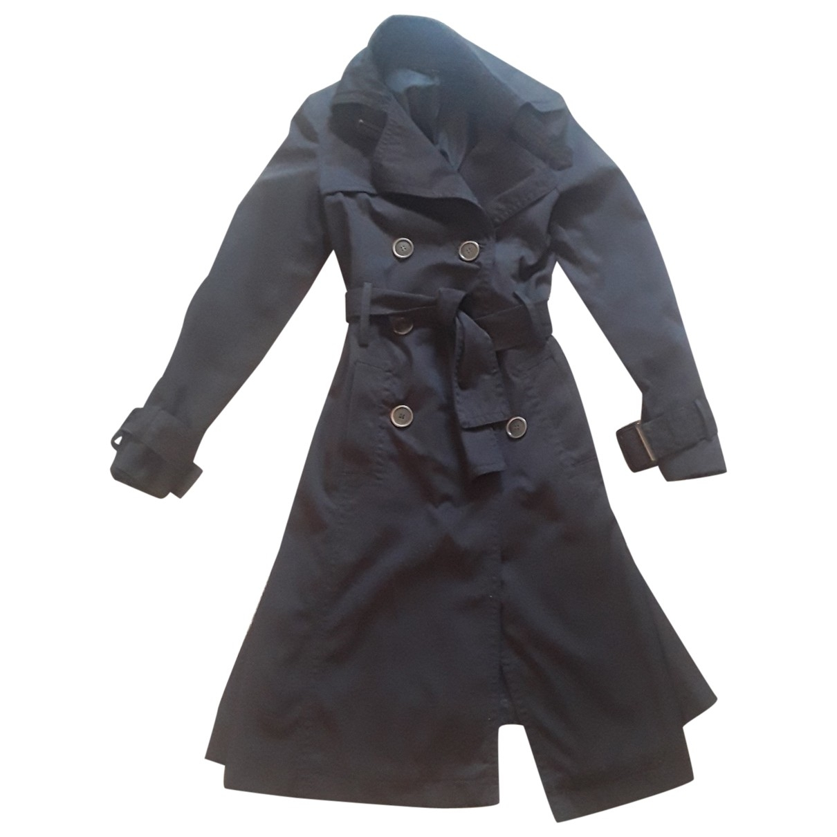 Zara \N Trench in  Braun Polyester