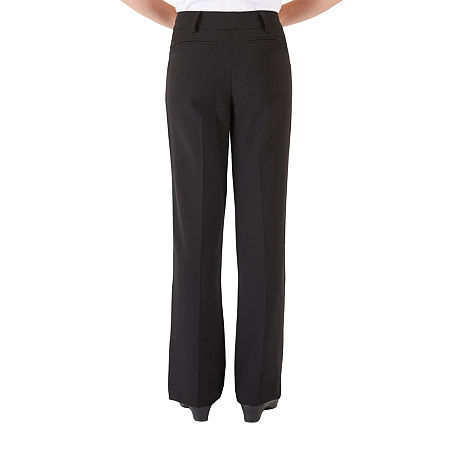 by&by girl Big Girls Flat Front Pant, 12 , Black