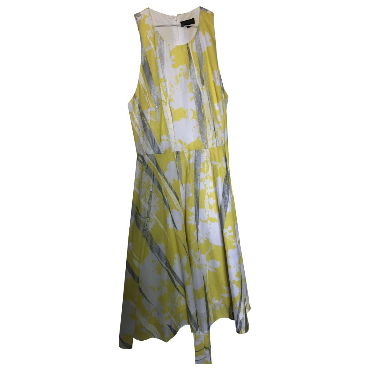 Adolfo Dominguez \N Kleid in  Gelb Leinen
