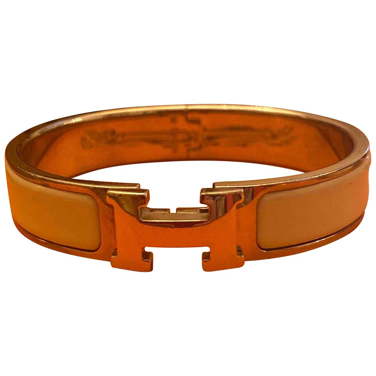 Hermes - Bracelet Clic H pour femme en ceramique - blanc