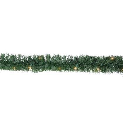Christmas Decoration, 30 LED Pine Garland String Lights, Warm White, 25ft.