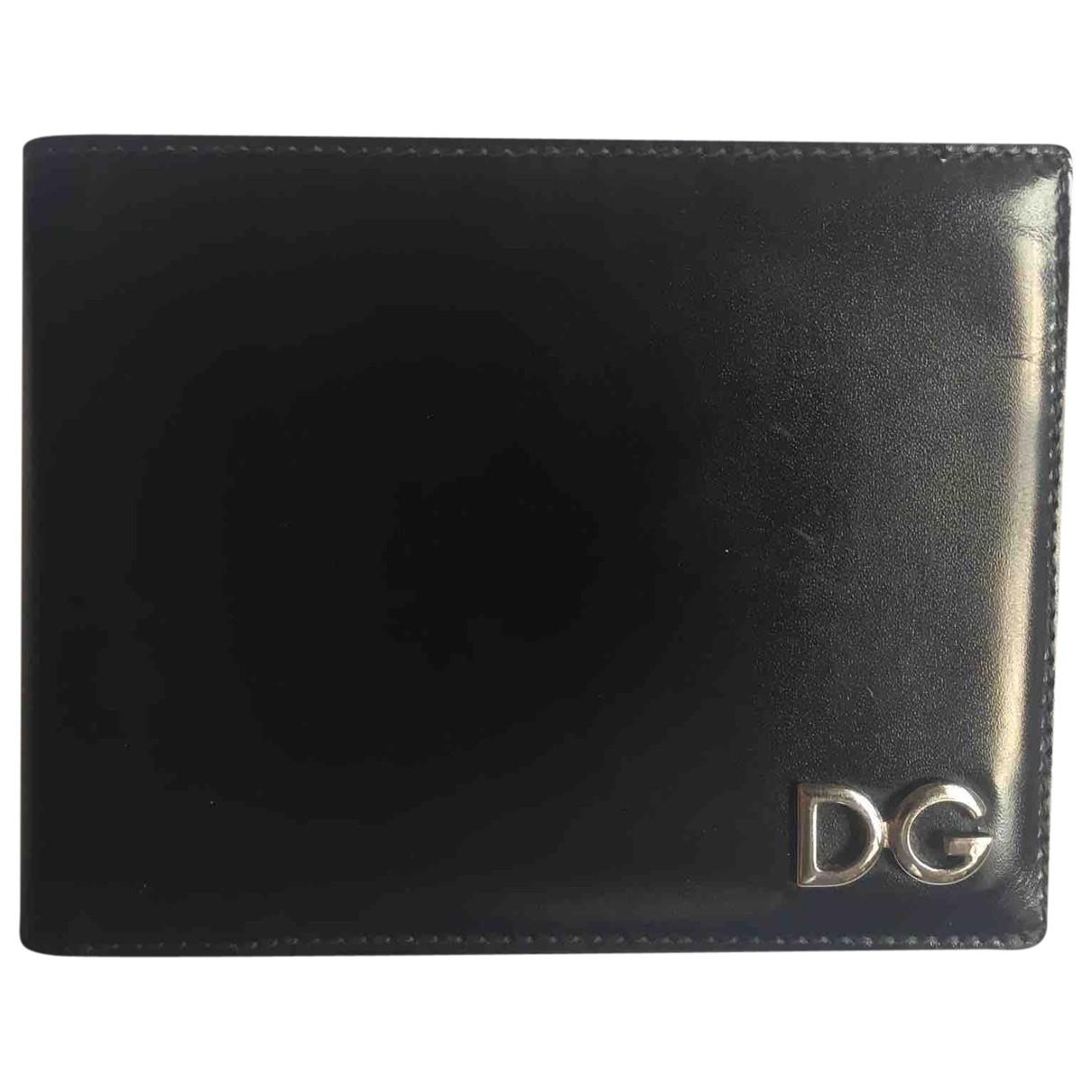Dolce & Gabbana - Petite maroquinerie   pour homme en cuir - noir
