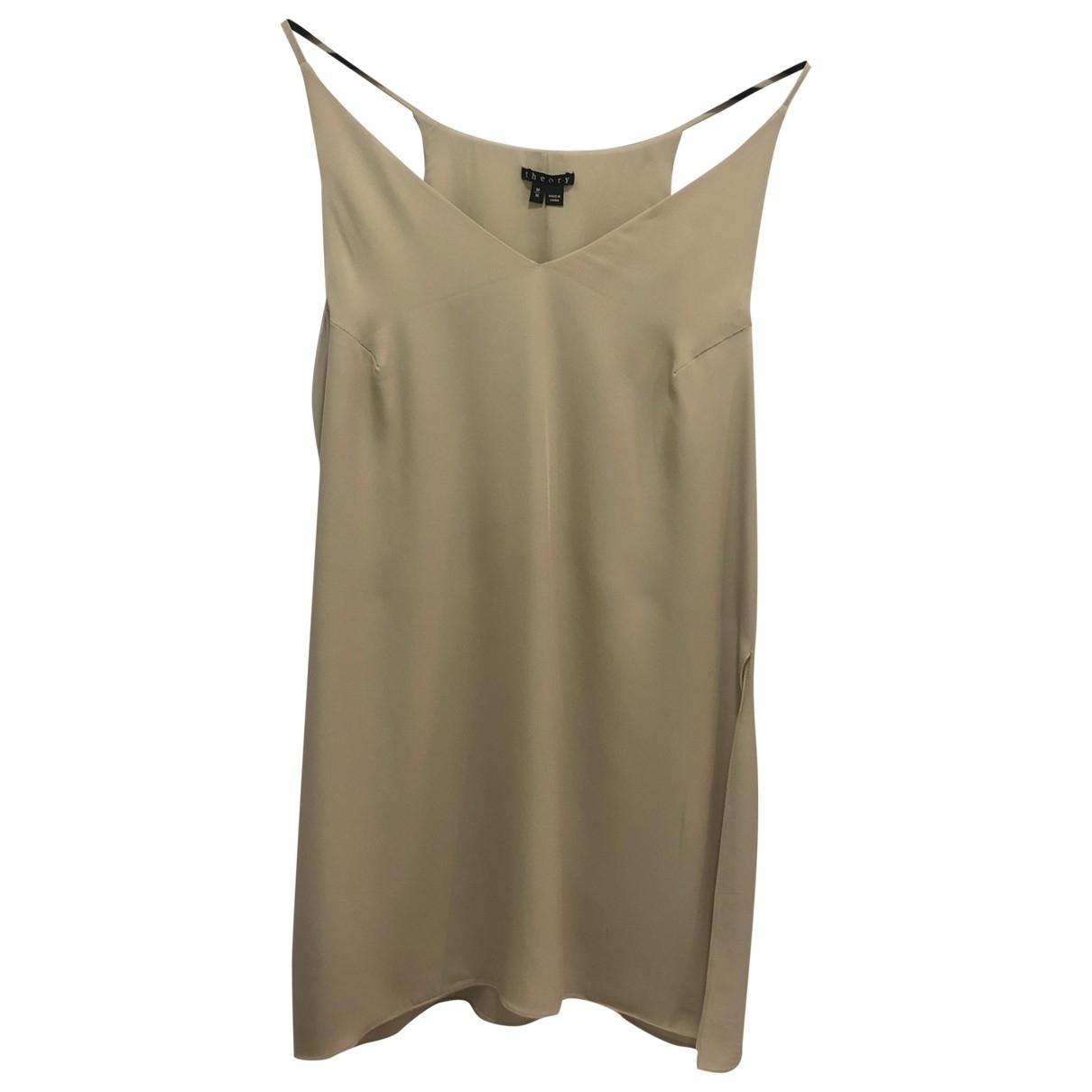 Theory - Top   pour femme en soie - beige