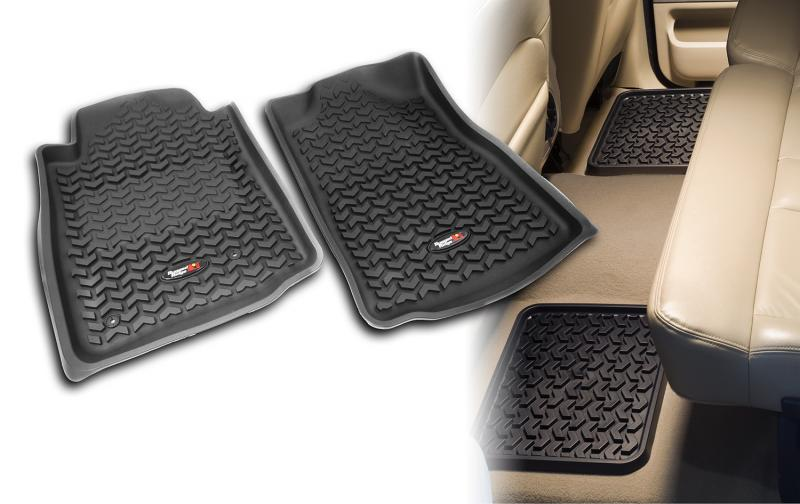 Rugged Ridge 82987.61 All Terrain Floor Liner Kit, Black; 07-11 Sequoia/Tundra Toyota