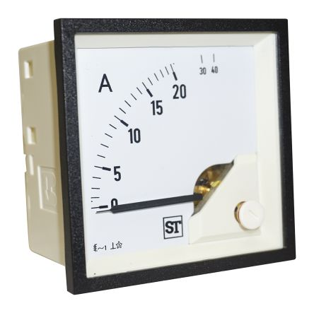 Sifam Tinsley Sigma Analogue Panel Ammeter 20A AC, 68mm x 68mm Moving Iron