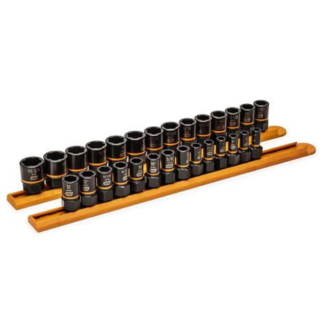 GearWrench 28 pc. 1/4 In. & 3/8 In. Drive Bolt biter™ Impact Extraction Socket Set