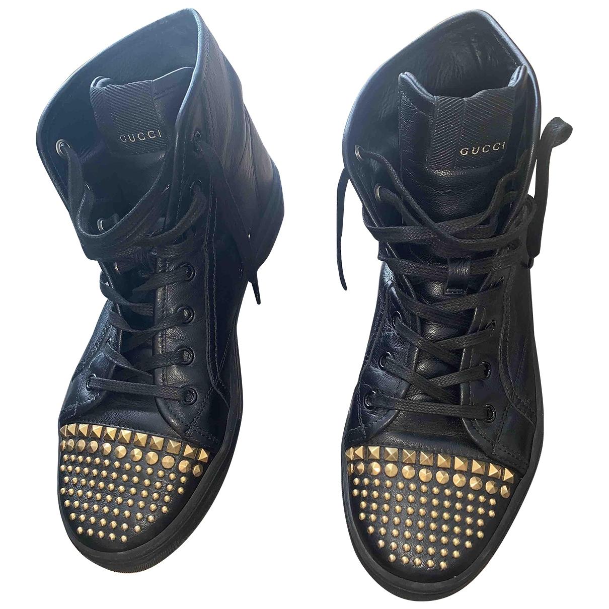 Gucci - Baskets   pour femme en cuir - noir