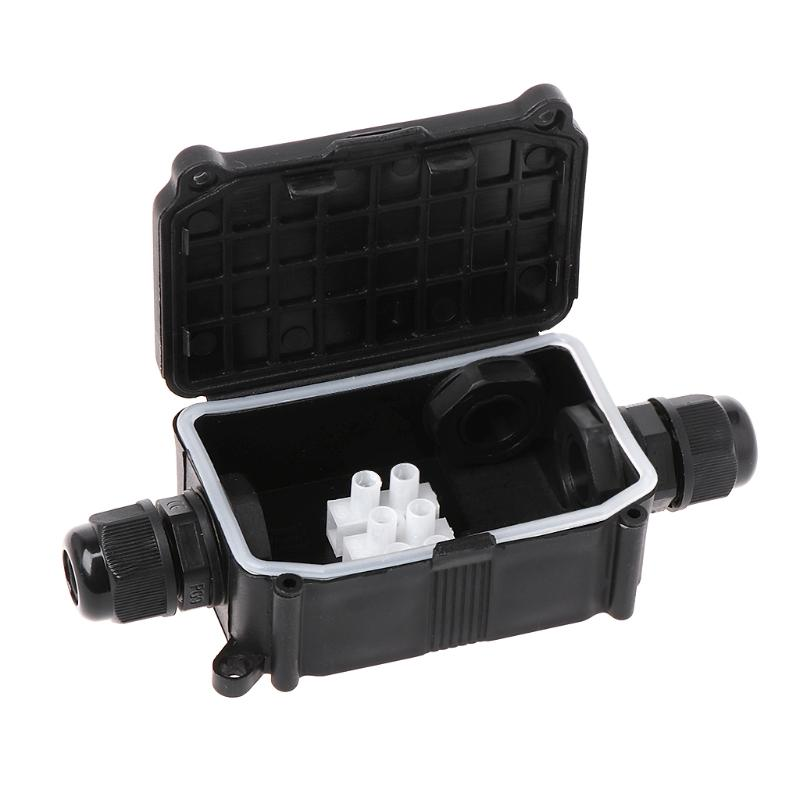 2 Way 3Way IP66 Outdoor Waterproof Cable Connector Junction Box Case with Terminal 450V