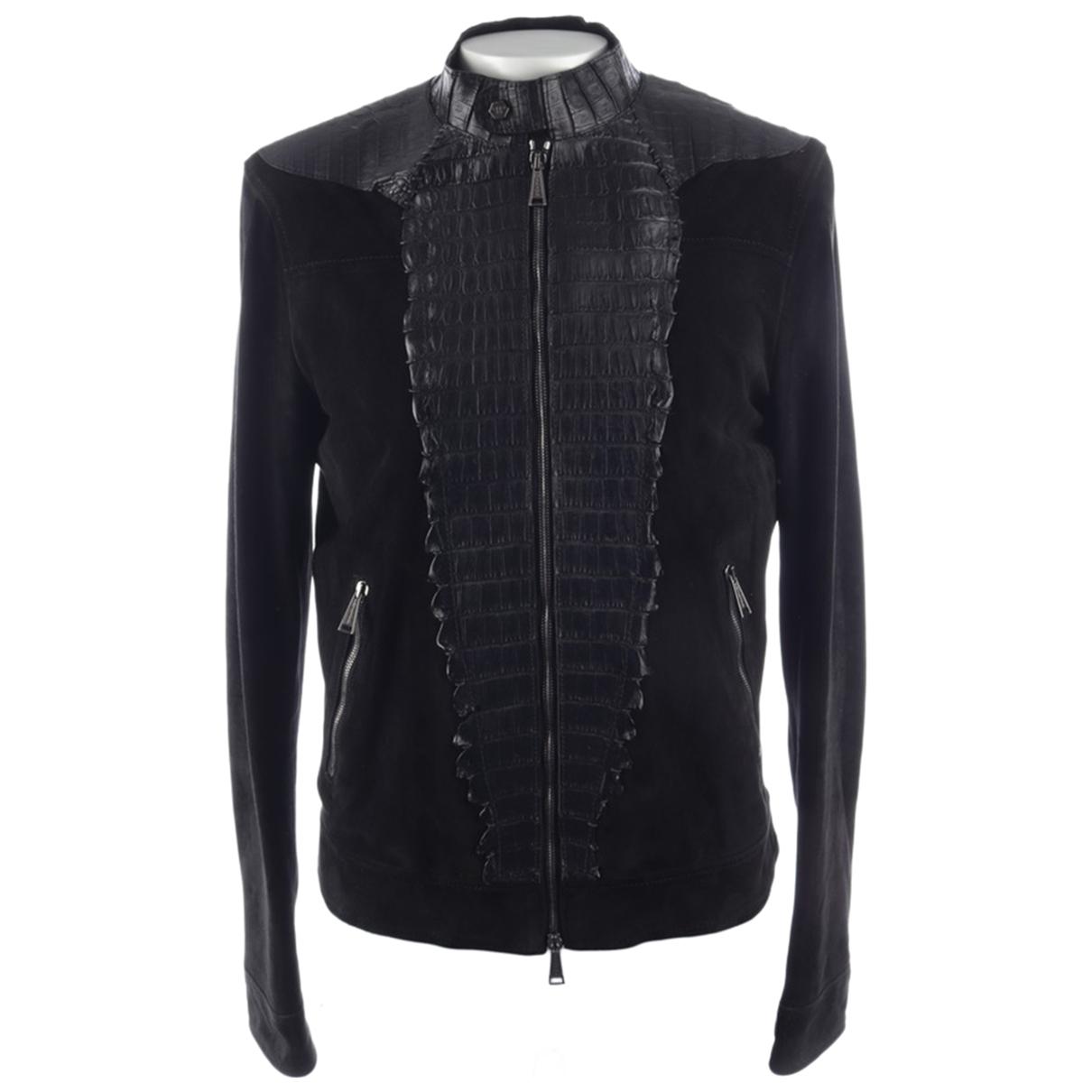 Philipp Plein - Veste   pour femme en cuir - noir