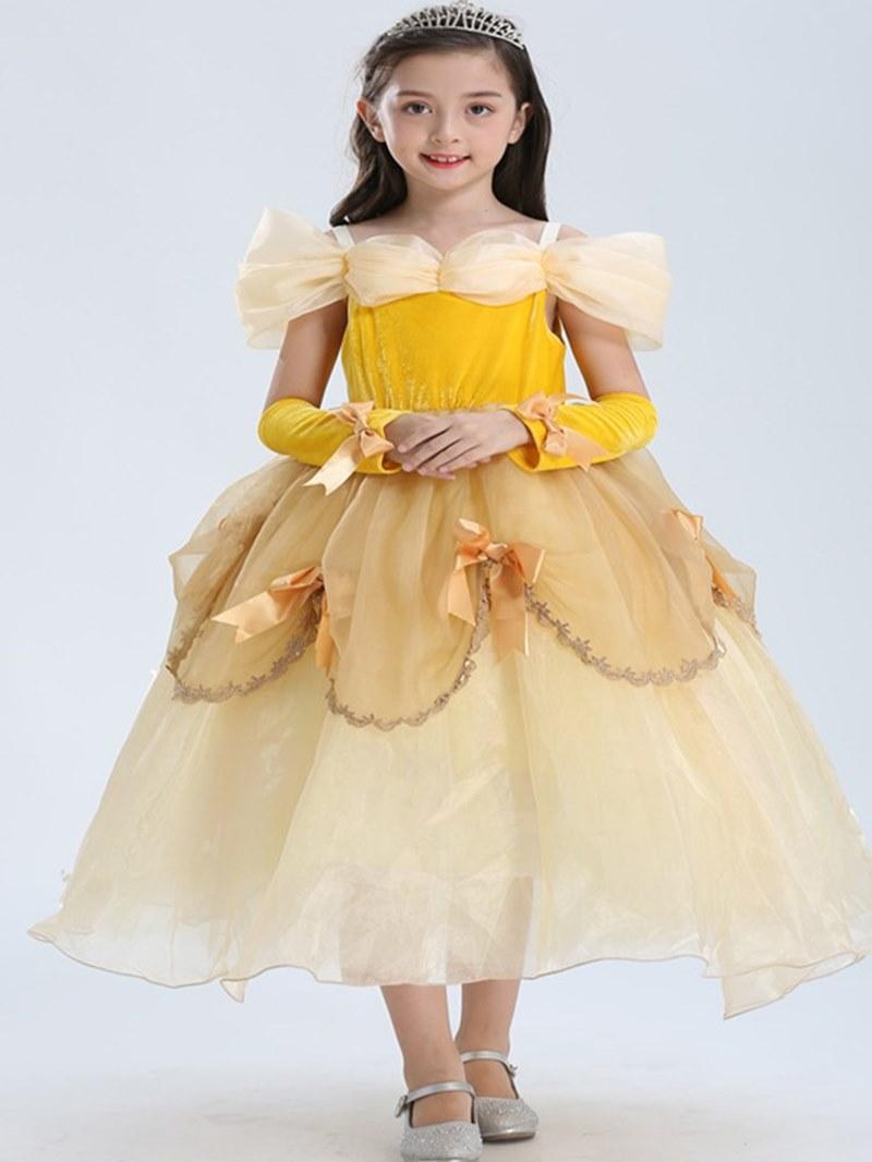 Ericdress Plain Mesh Bowknot Spaghetti Strap Girl's Costumes