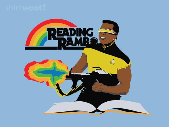 Reading Rambo Remix - Baby Blue T Shirt