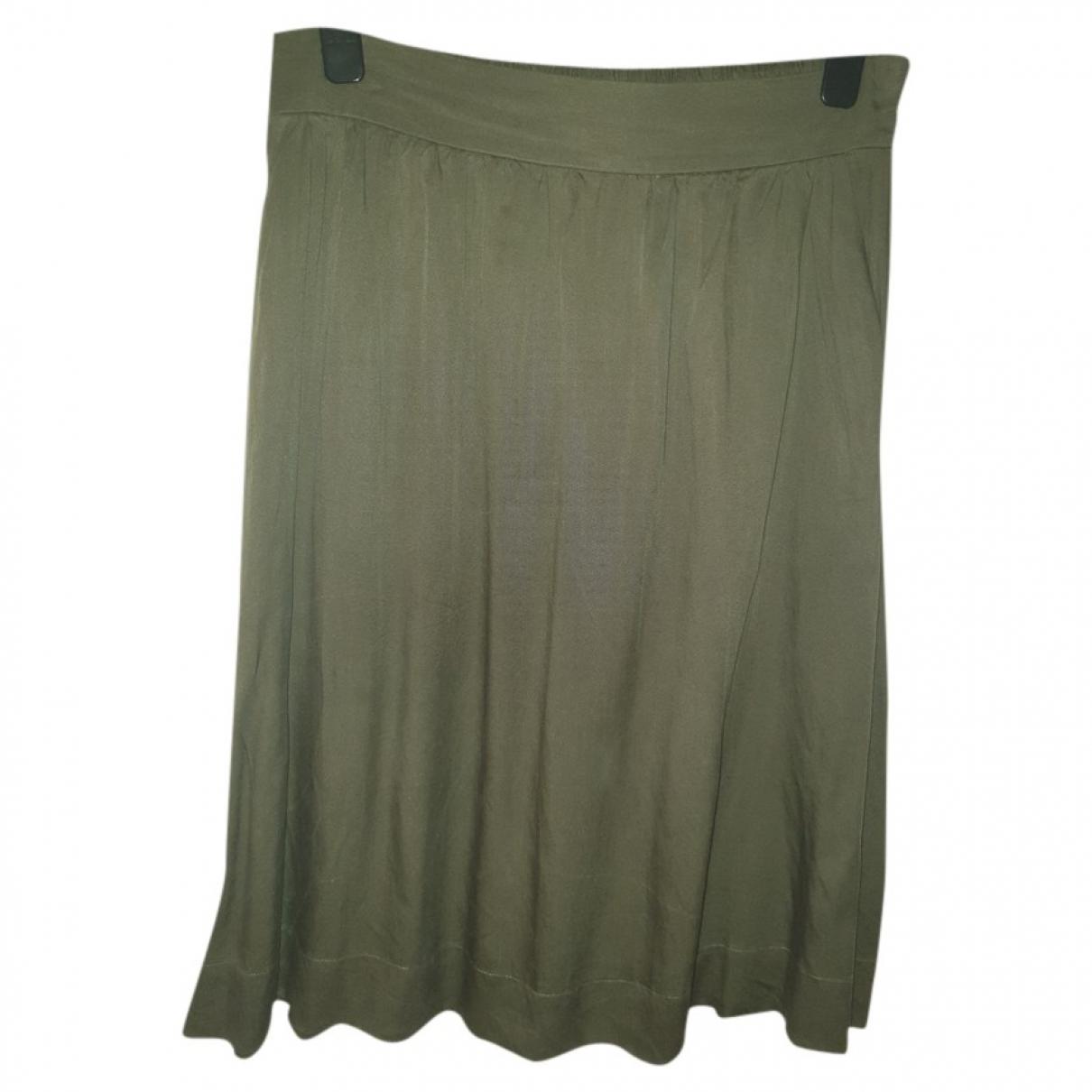 Hallhuber \N Khaki Cotton skirt for Women 44 FR