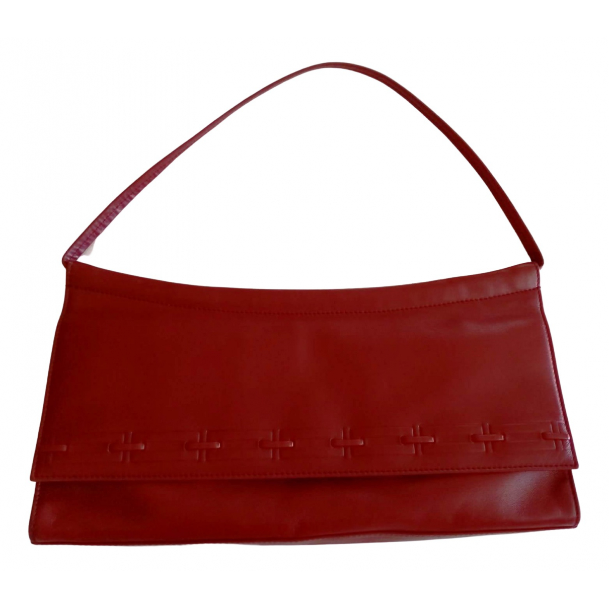 Nina Ricci - Pochette   pour femme en cuir - rouge