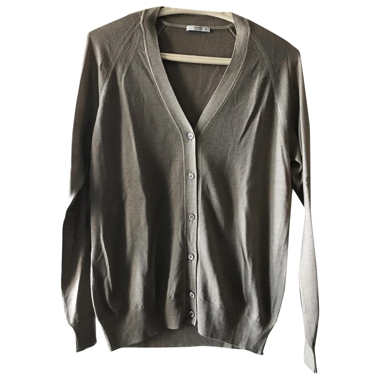 Prada \N Ecru Wool Knitwear for Women 42 IT
