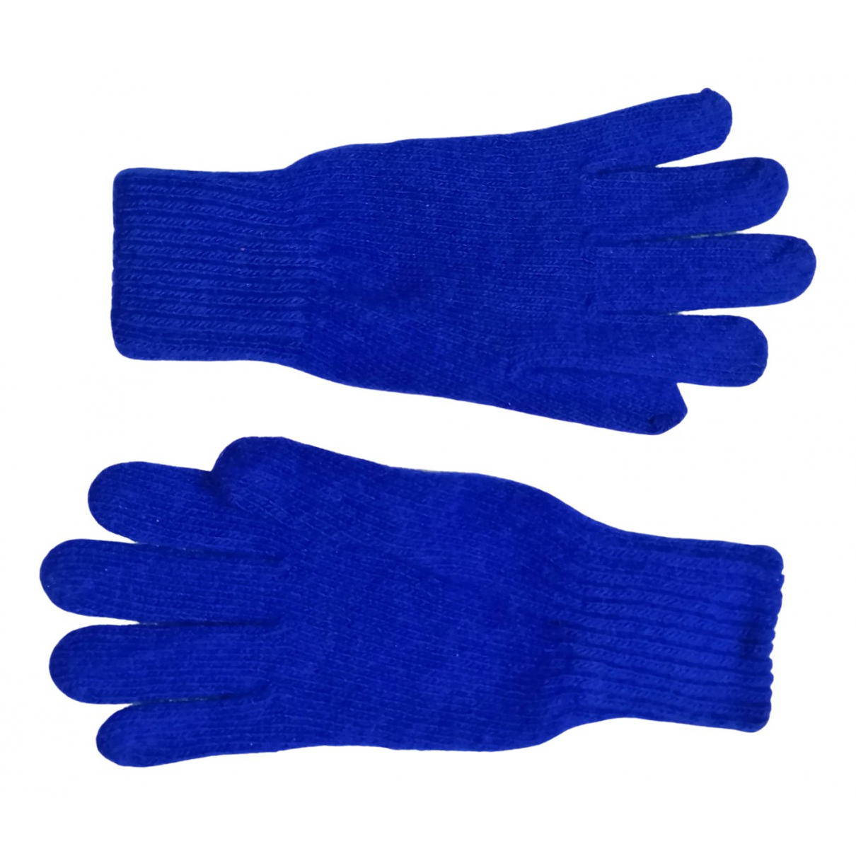 Non Signé / Unsigned N Blue Wool Gloves for Women S International