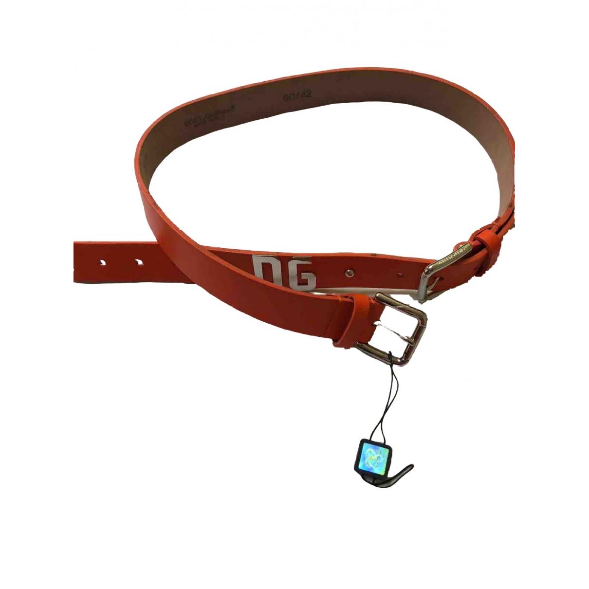 D&g \N Orange Leather belt for Women S International