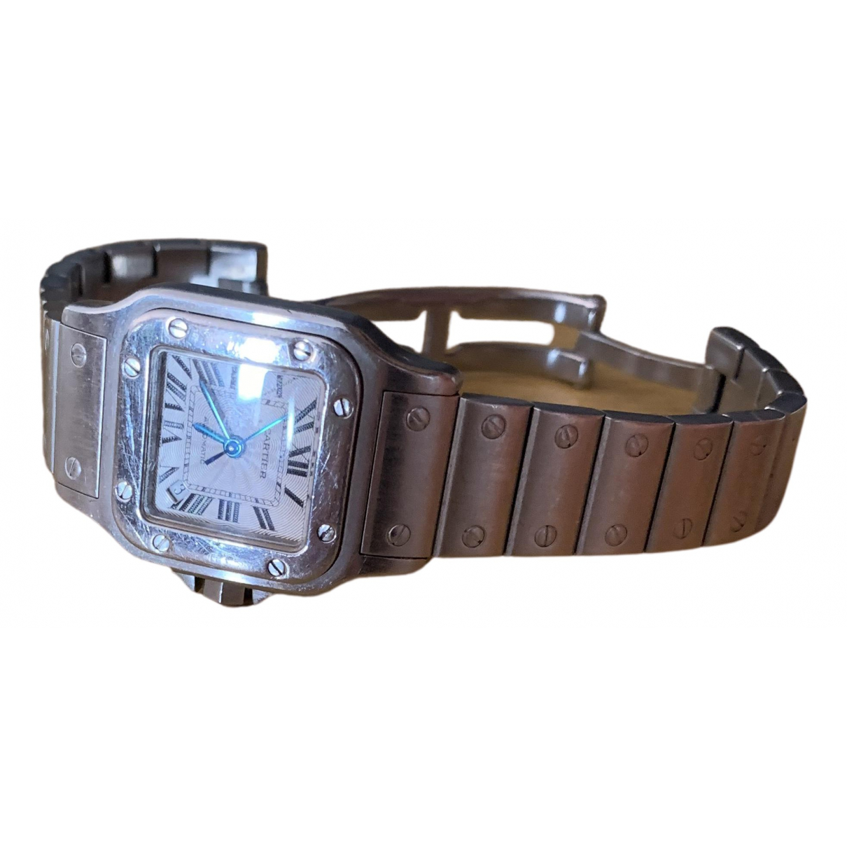 Cartier Panthere Uhr in  Metallic Stahl