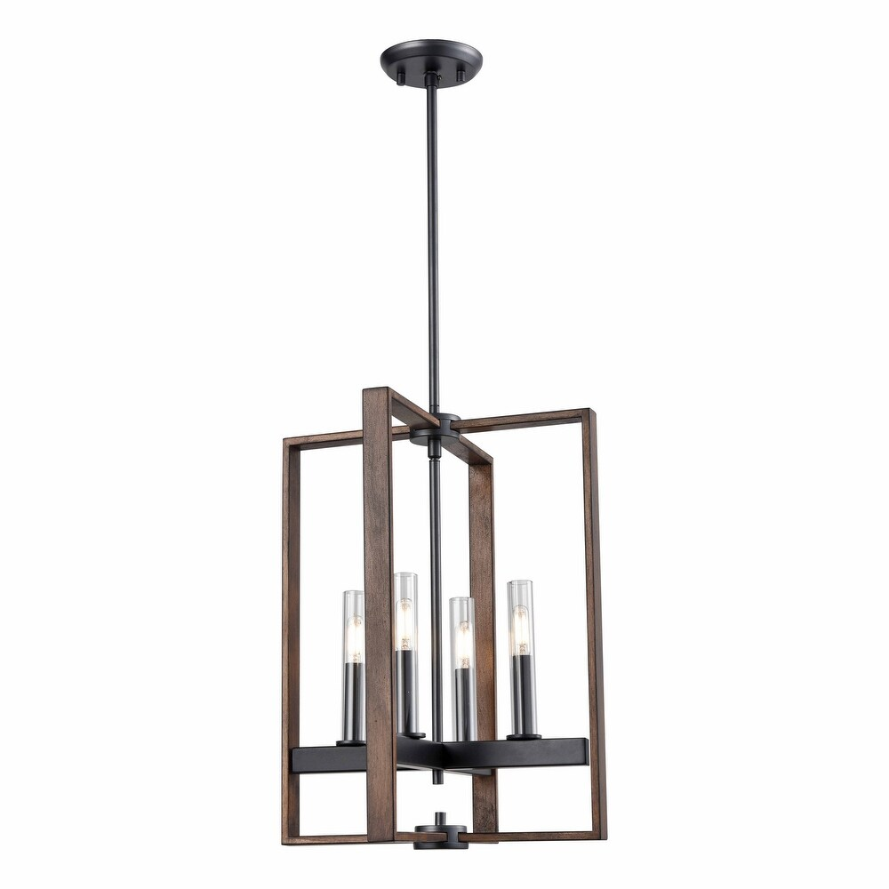 DVI Lighting DVP30248GR IWCL Four Light Foyer Pendant Blairmore Ironw - One Size (One Size - Clear)