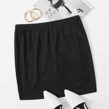Faldas Extra Grande Liso Casual