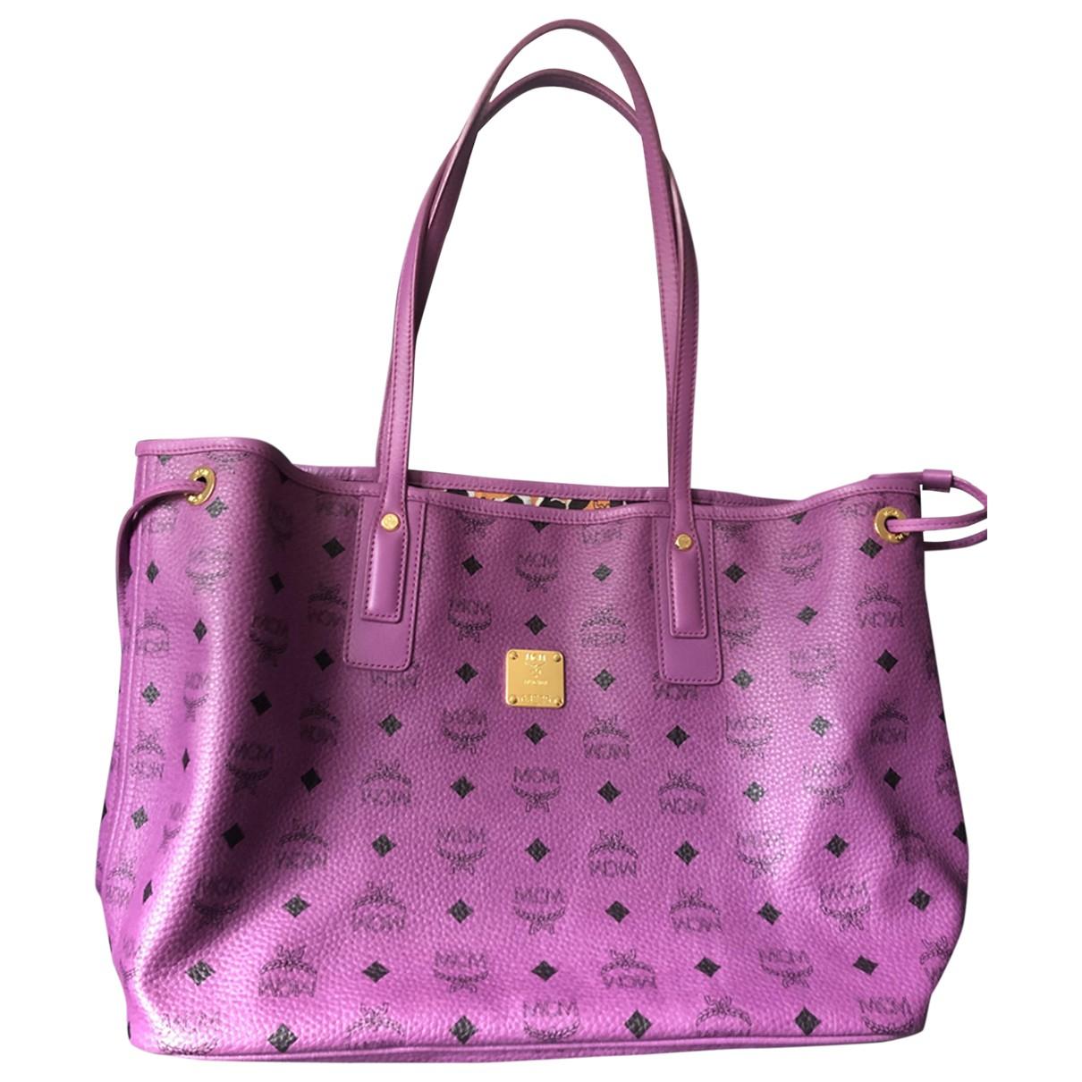 Mcm Anya Handtasche in  Lila Leder
