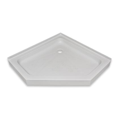 SBNA-4242-WHT Neo-Angle White Acrylic Center Drain Shower Base