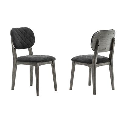 Katelyn Collection LCKASITGMN Midnight Open Back Dining Chair - Set of