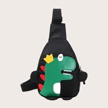 Bolsa bandolera de niños con diseño de dinosaurio de dibujos animados