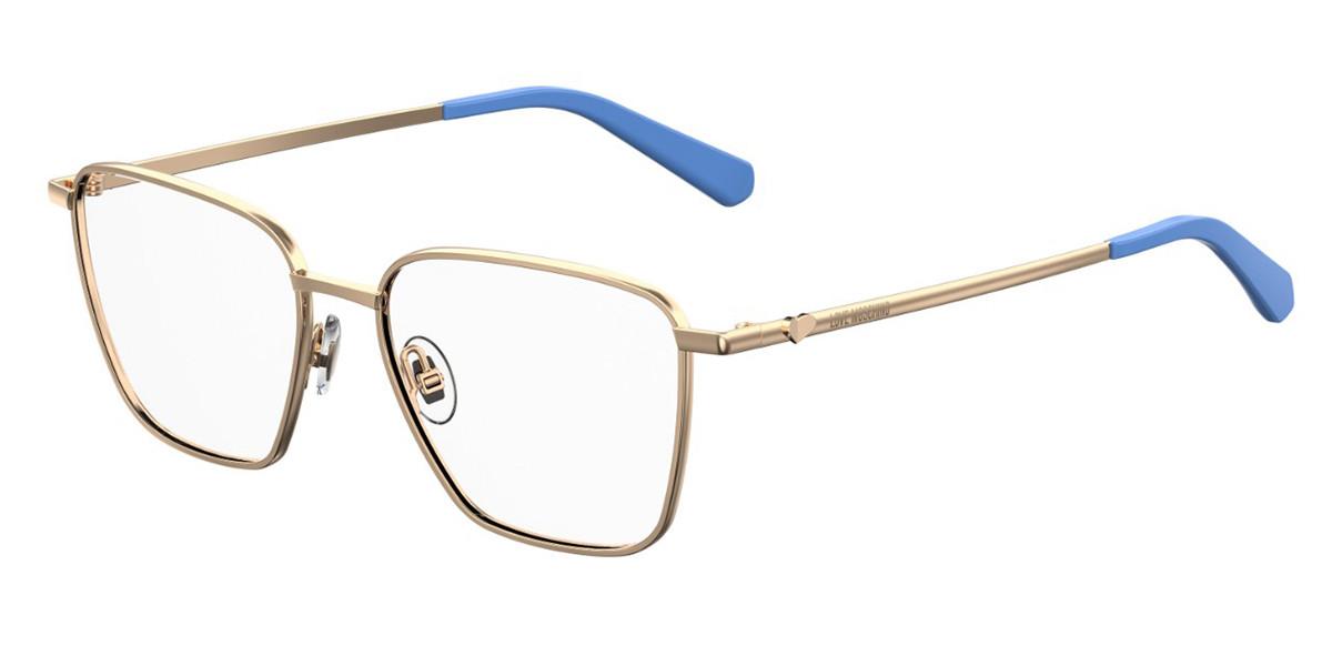 Moschino Love MOL533 MVU Women's Glasses Gold Size 52 - Free Lenses - HSA/FSA Insurance - Blue Light Block Available