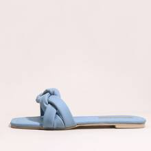 Open Toe Braided Sliders