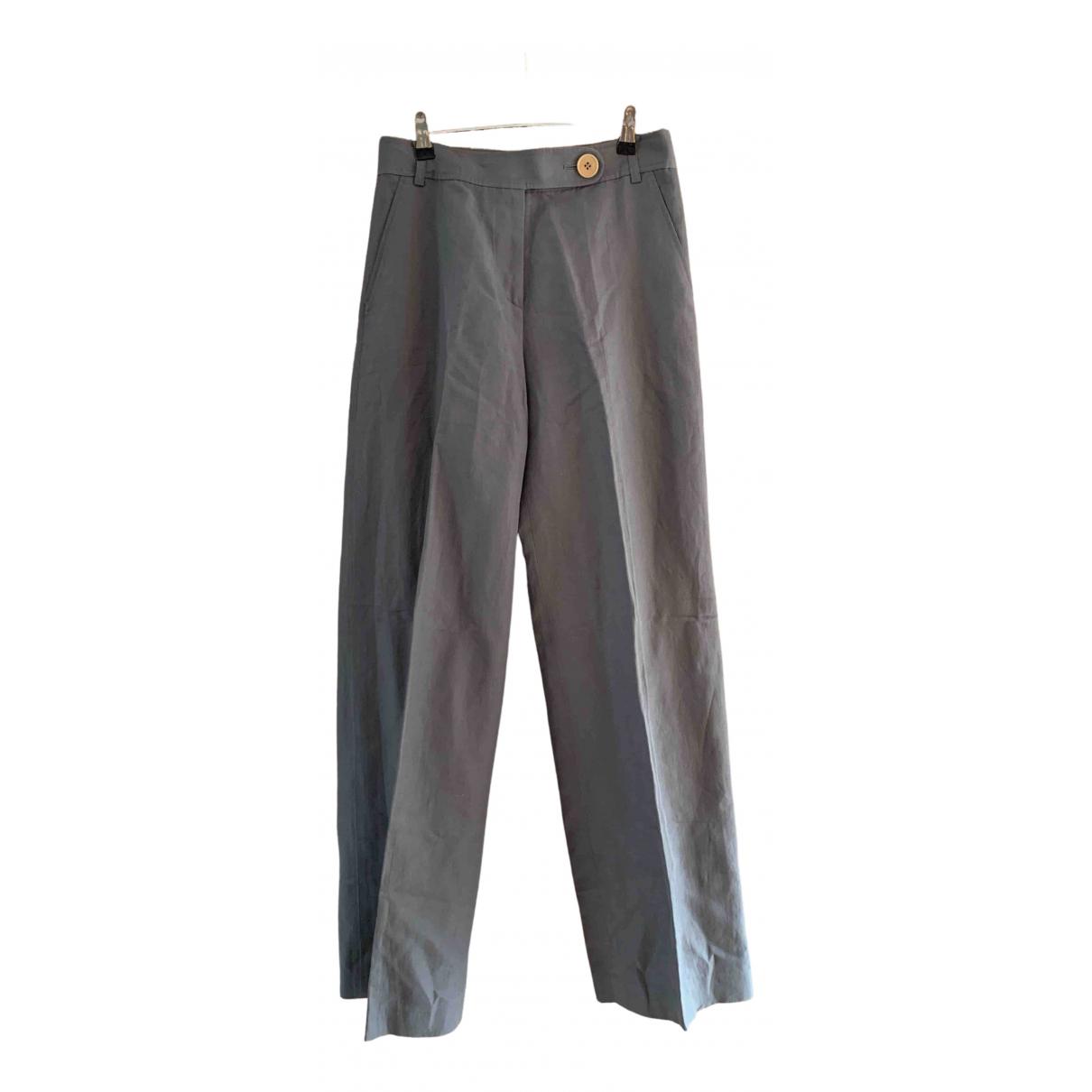 Paul Smith \N Grey Linen Trousers for Women 44 IT