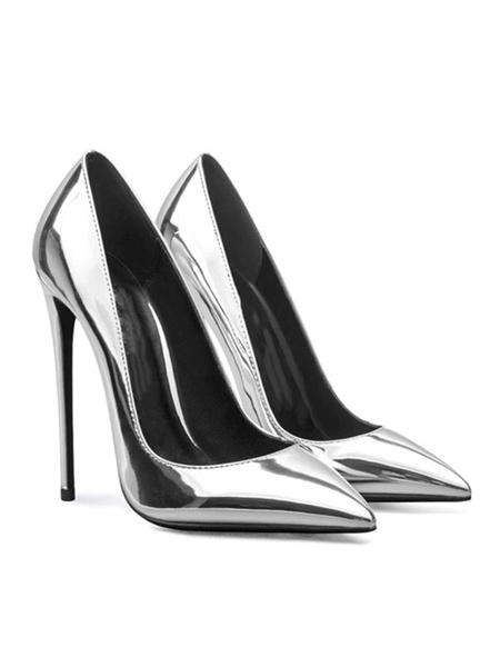 Milanoo Woman's High Heels Slip-On Pointed Toe Stiletto Heel Fashion Plus Size Pumps