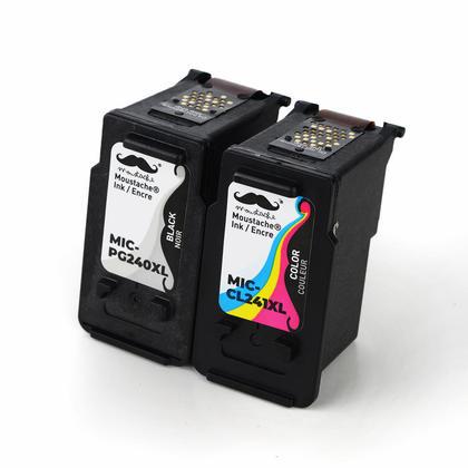 Compatible Canon PIXMA MX459 cartouches encre noire et couleur de Moustache, ensemble de 2 paquet - haut rendement