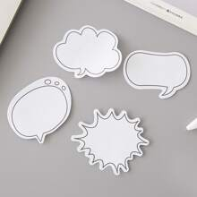1pack Chat Bubble Shaped Random Sticky Note