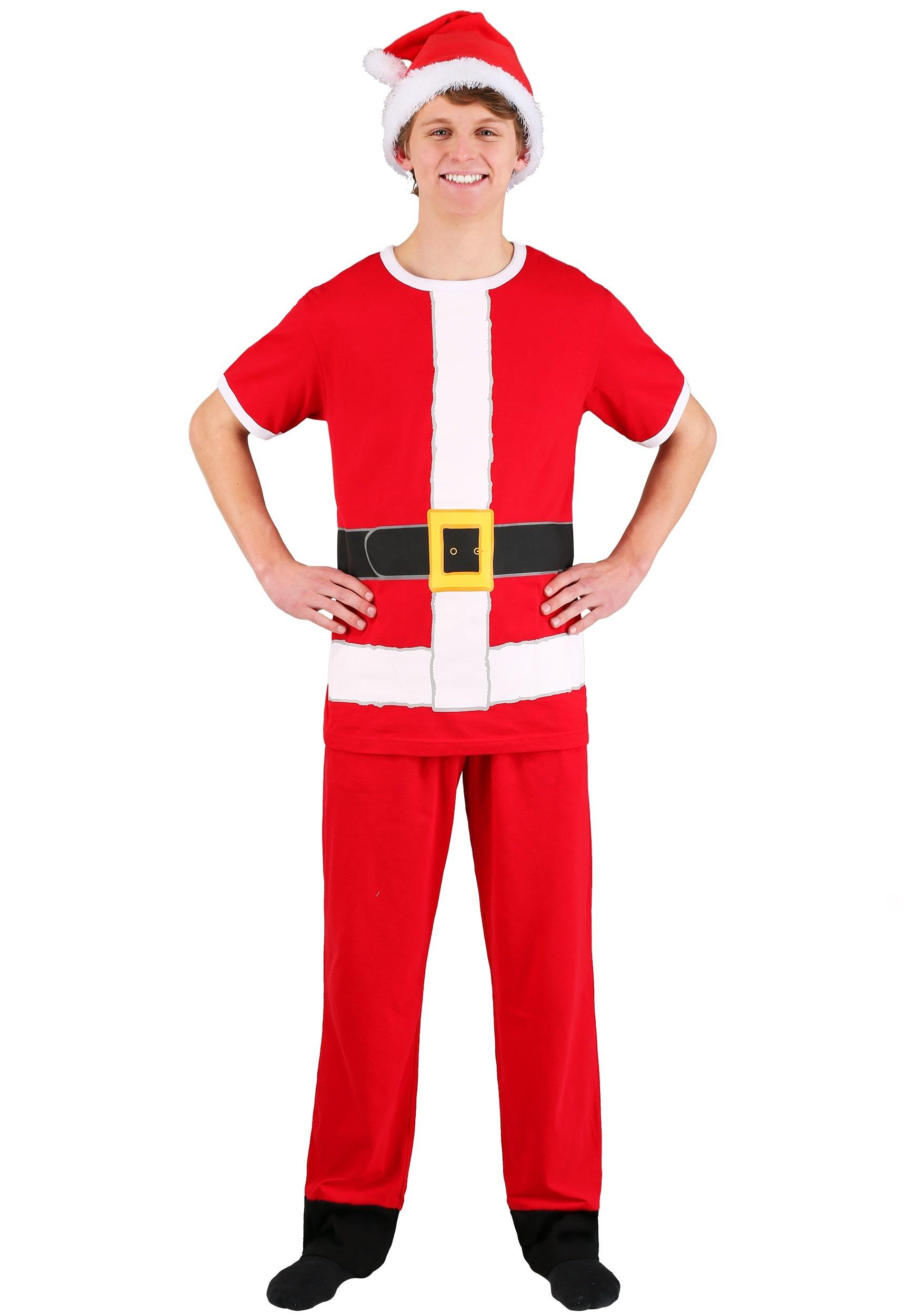 Santa Cosplay Costume Tee, Lounge Pants & Hat