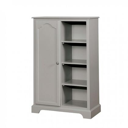 Diane Collection CM7158GY-CN 16 Closet Storage with One Door and Four Open Shelves in