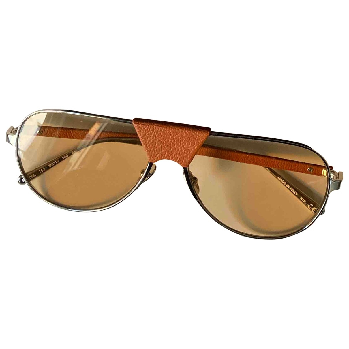 Salvatore Ferragamo \N Gold Metal Sunglasses for Men \N