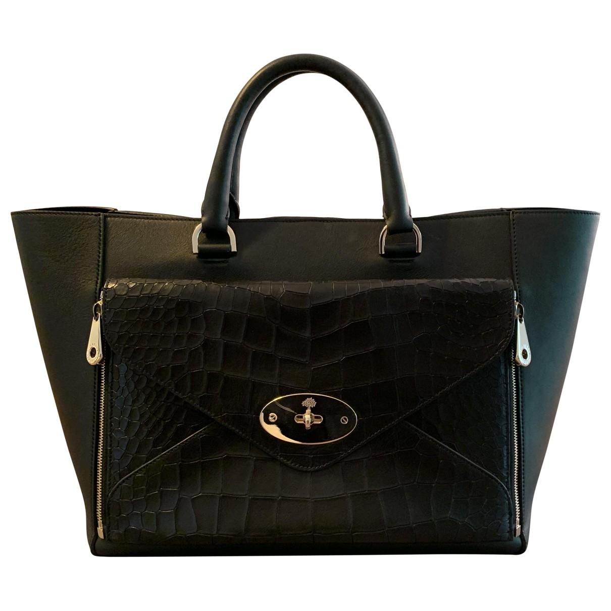 Mulberry Willow Black Leather handbag for Women \N