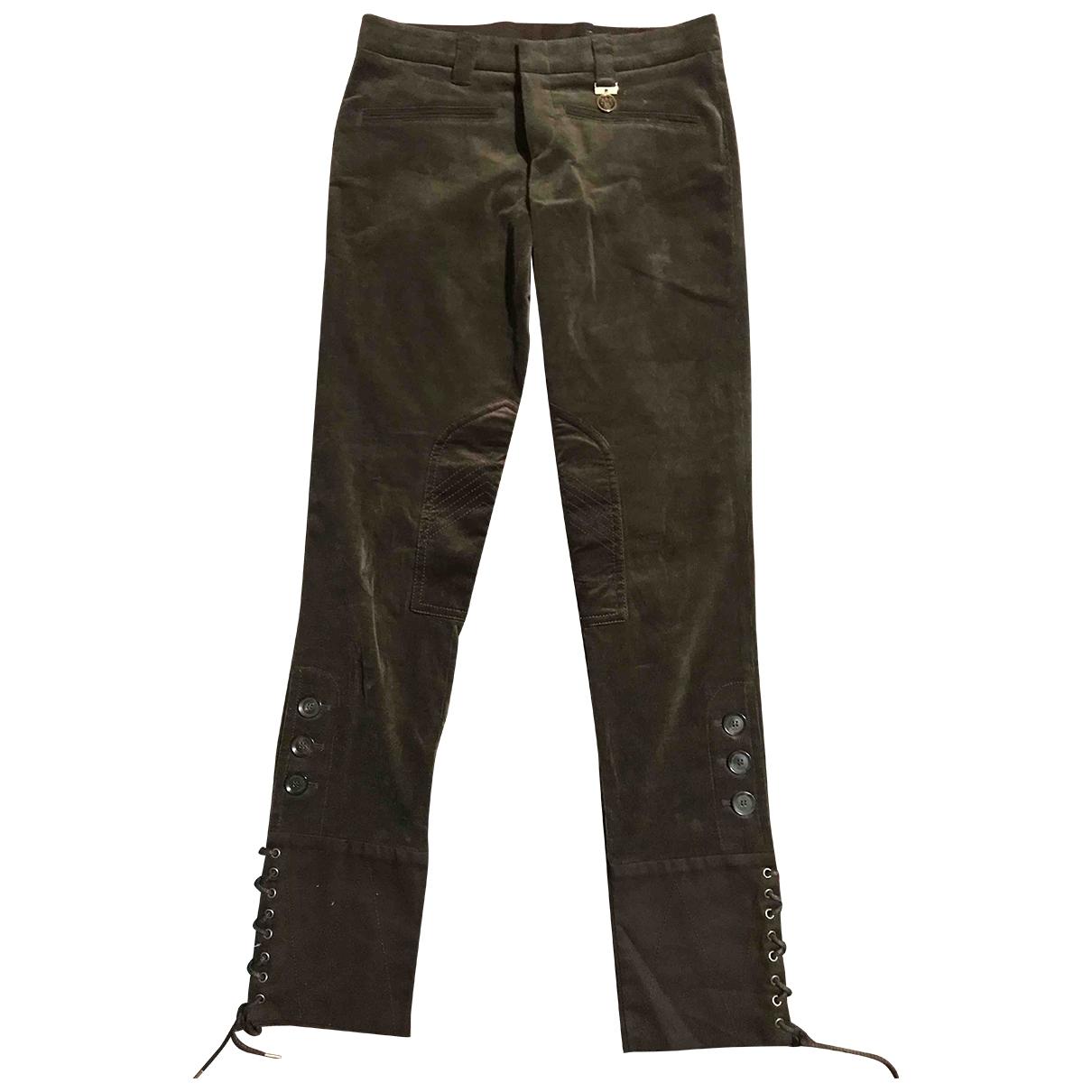 Gucci \N Brown Velvet Trousers for Women 40 IT