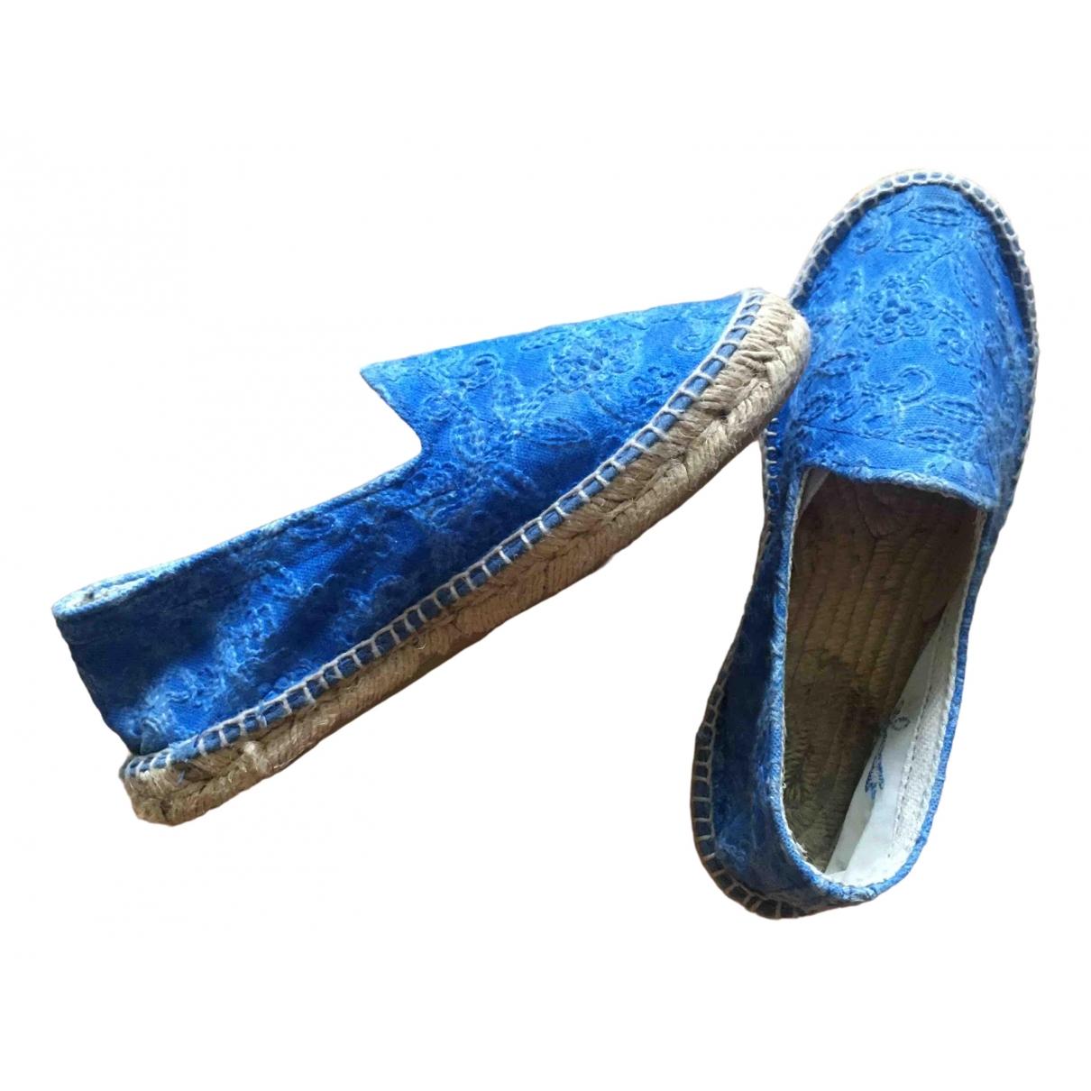Manebi \N Espadrilles in  Blau Leinen