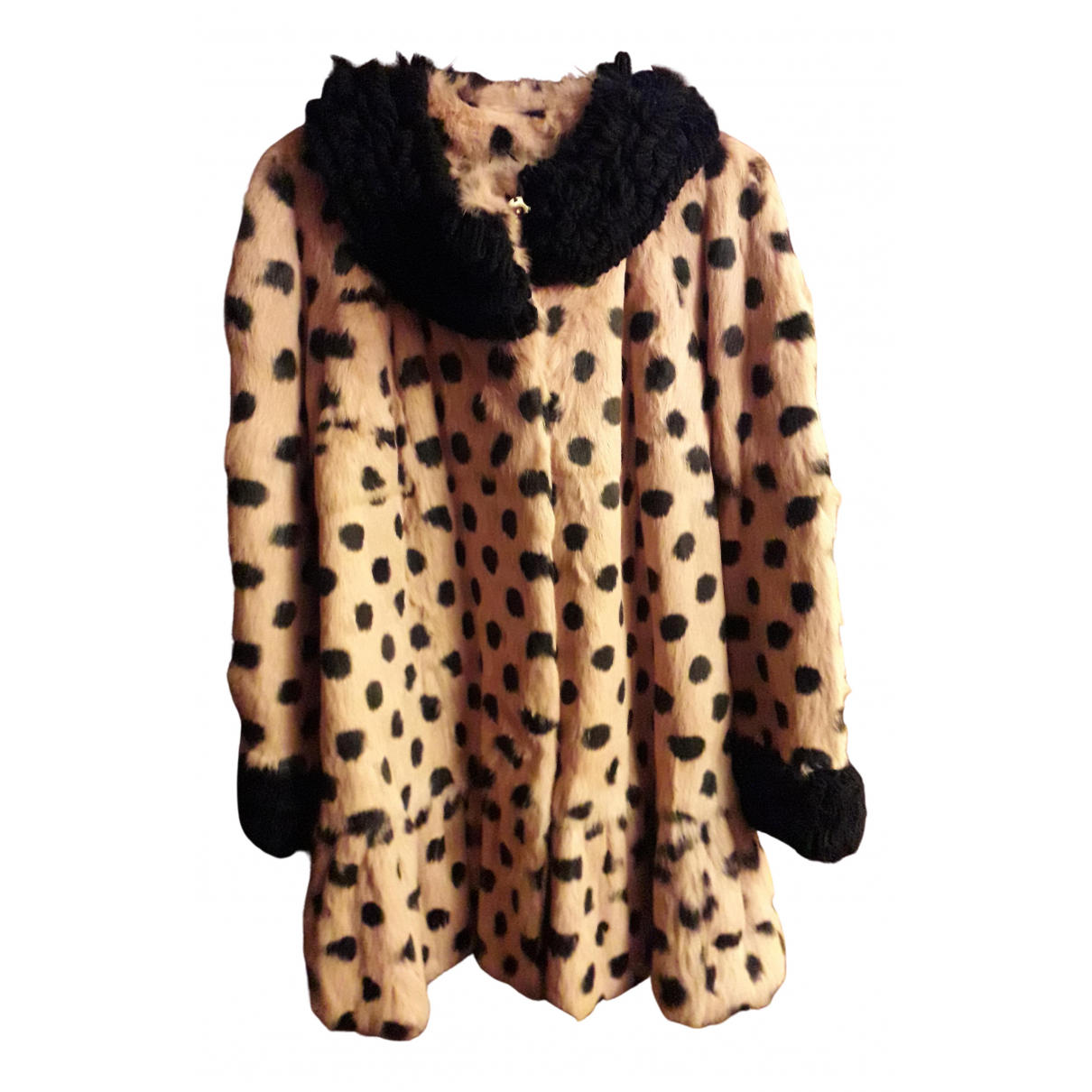 Manoush N Beige Rabbit coat for Women 40 FR