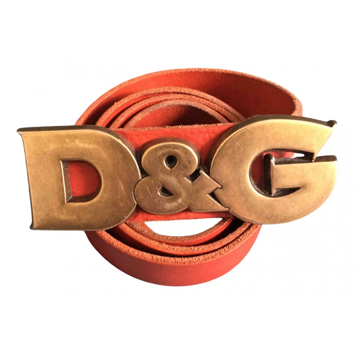 D&g \N Guertel in  Rot Leder