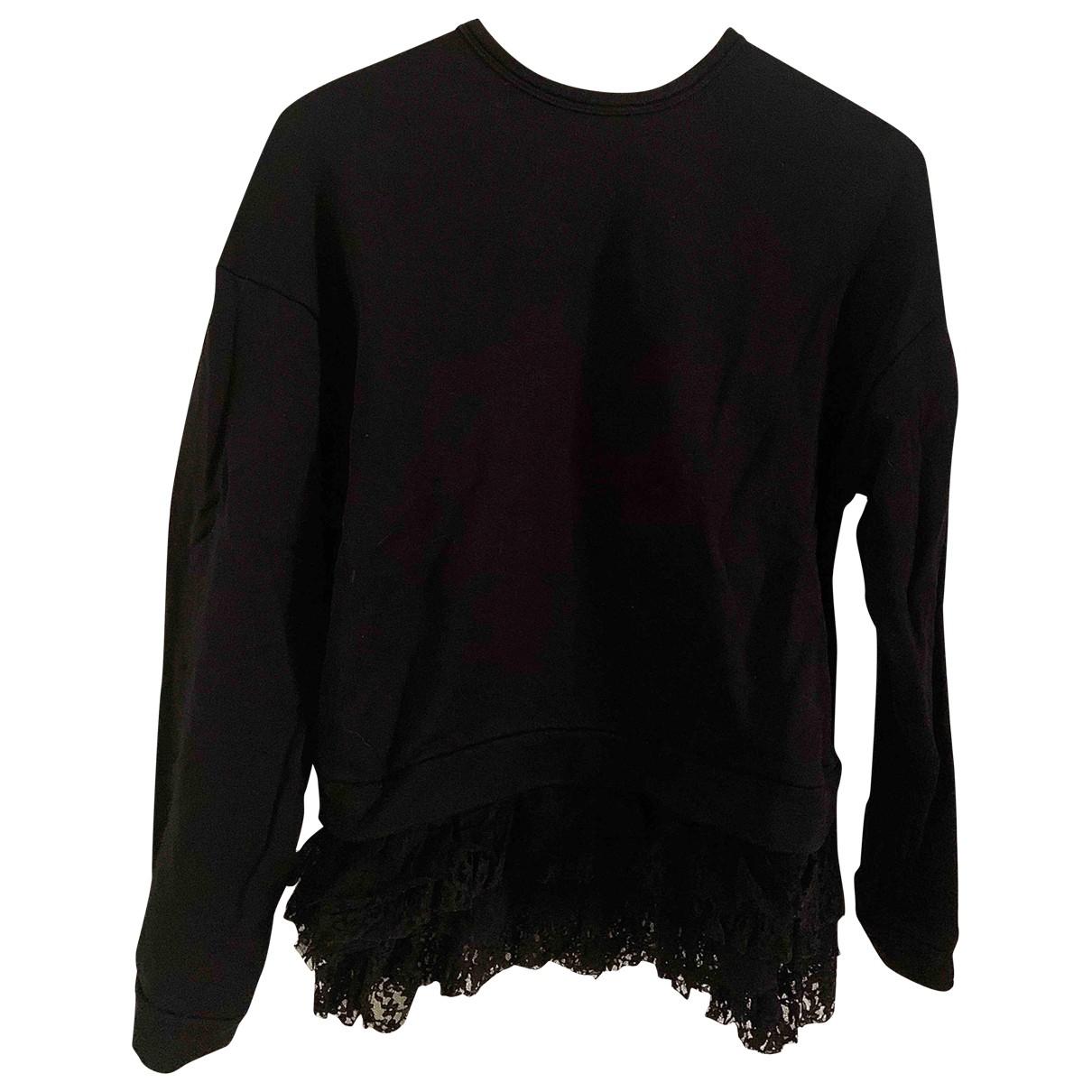 N°21 - Pull   pour femme en coton - noir